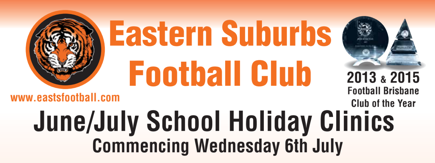 Easts July 2016 Football Clinic